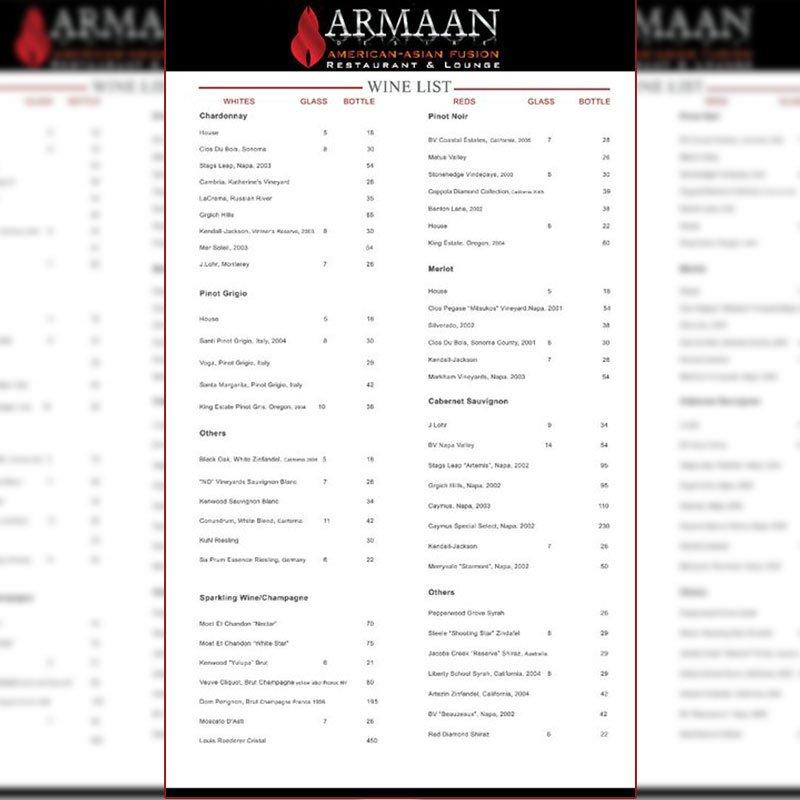 fine dinning menu design graphic design services restaurants atlanta