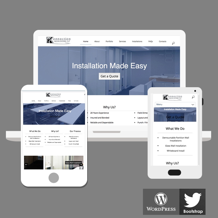 Corporate Installation website design development Atlanta ga