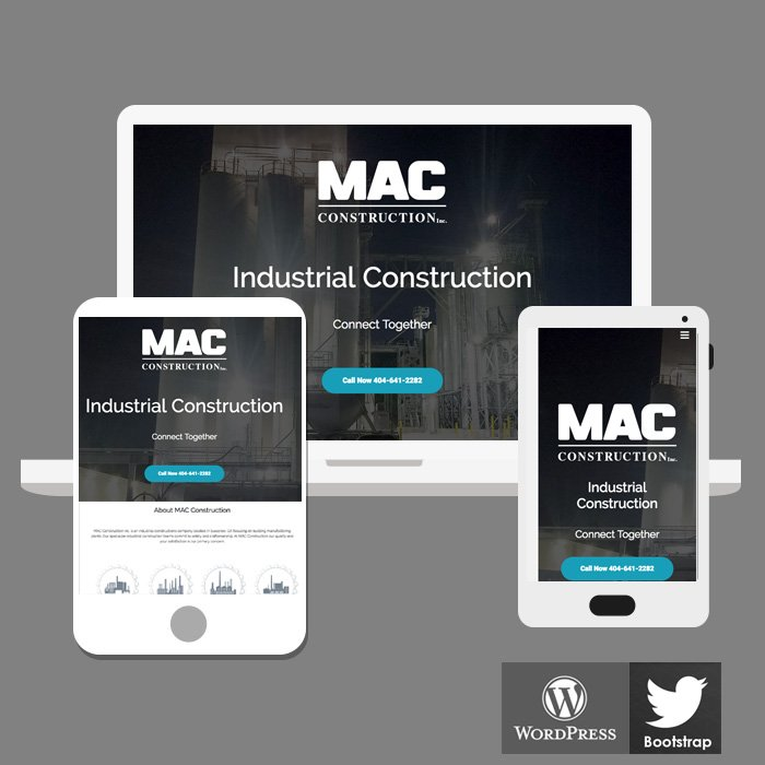 HTML5 Web Design for Industrial Construction Company